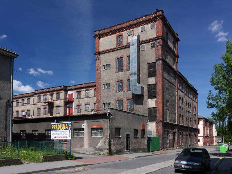 Přádelna bavlny Adolf Landsberger, Frýdek-Místek – zbořeno v dubnu 2014 (foto Lukáš Beran, 2010
