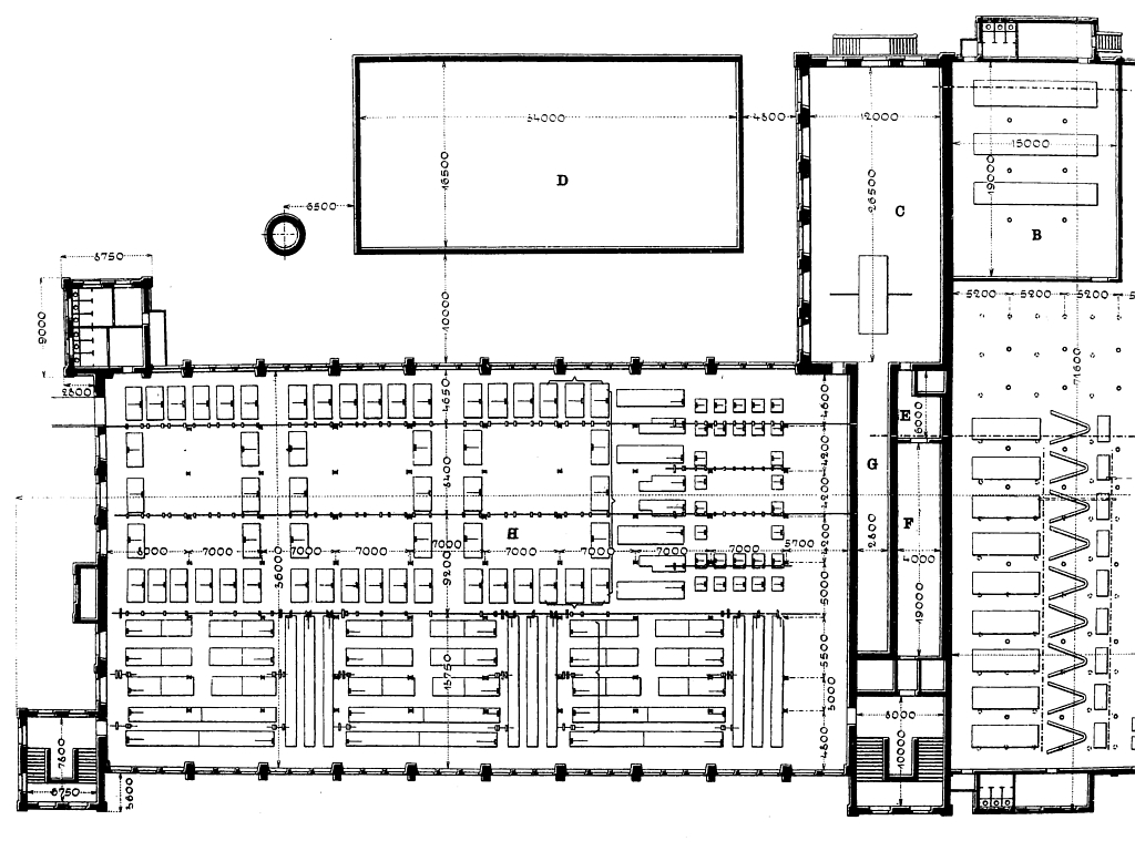 SWA III, půdorys přádelny a části tkalcovny – Utz 1900