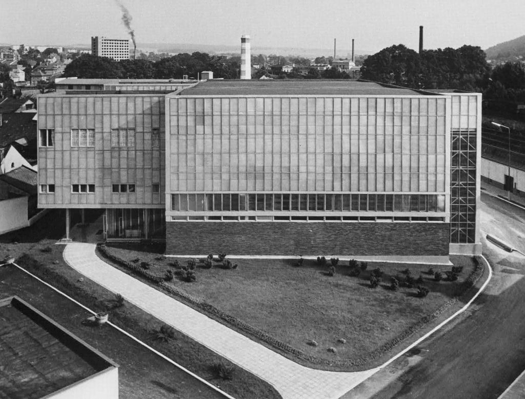 Ověřovací bezvřetenová přádelna Výzkumného ústavu bavlnářského, Ústí nad Orlicí, zbořeno 2016 (archiv VÚB, a. s., nedatováno)